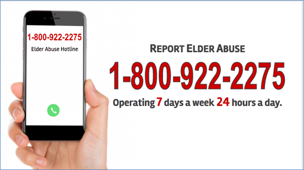 Elder Abuse Hotline phone number