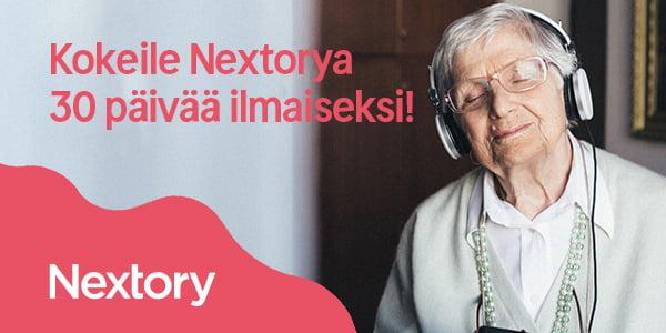 Nextory 30 päivää ilmaiseksi - Senioriedut