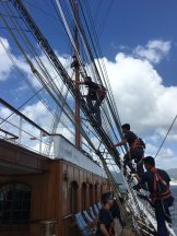 Setting sail. Kate Robertson