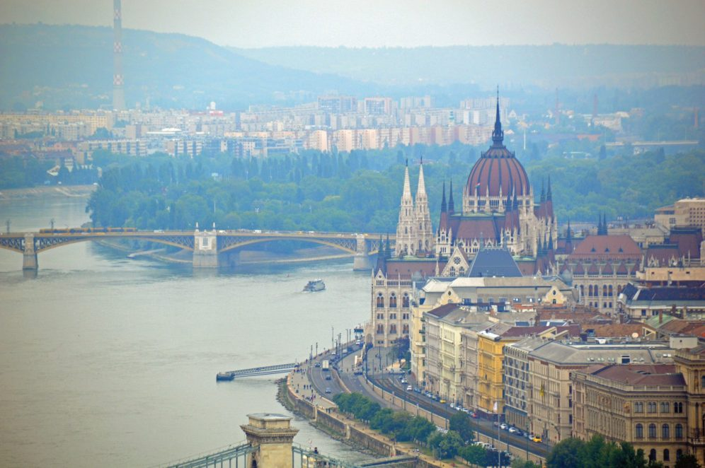 A view of Budapest and the Hungarian Parliament Building.