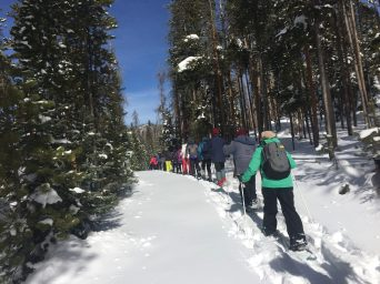 Snowshoe outing with Ranger at Rocky Mountain National Park