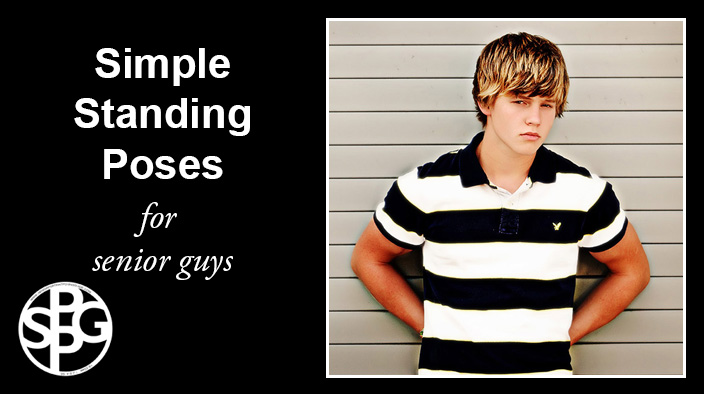 Simple Standing Poses for Senior Guys
