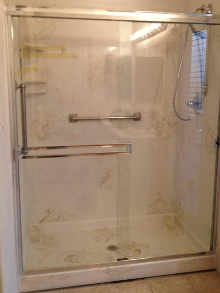 Walk In Shower 36x60x72 Marble Shower Pan Amp 3 Wall Surround Senior SAFETYPro