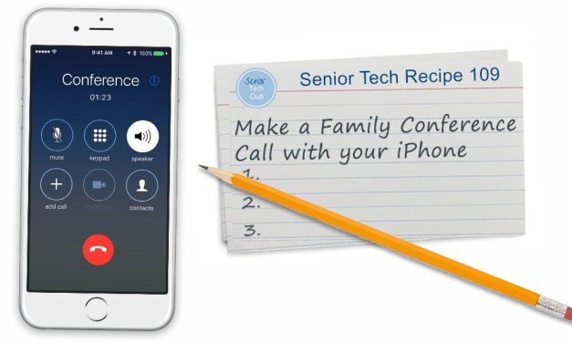 Make a Family  Conference Call with your iPhone