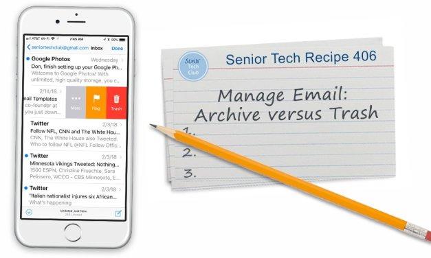 Managing Email: Trash versus Archive