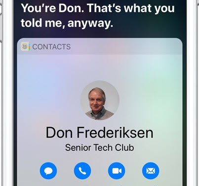 Who are you?  Does Siri know?  Setting up My Info