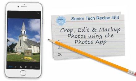 Crop & Edit Photos with the Photos App