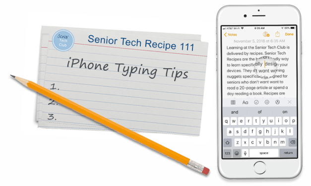 iPhone Typing Tips for Seniors