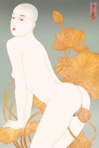 erotic, erotica, shunga, porn, japanese porn, lotus, buddha, buddhism, enlightenment , erotic art, sensual art