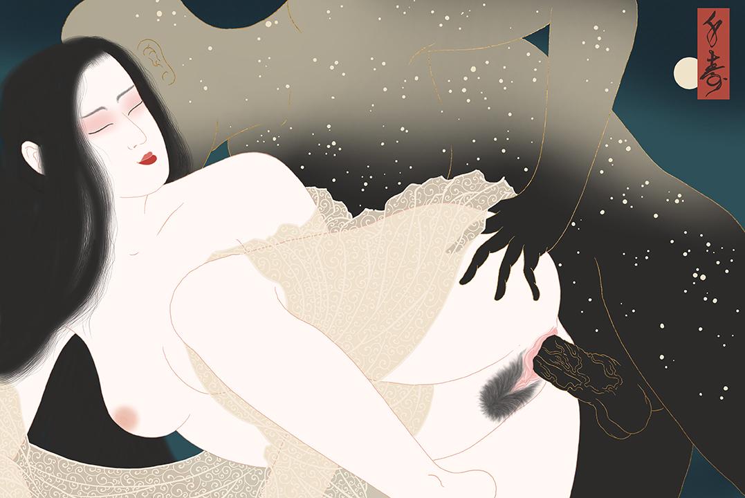 Erotic print by Senju