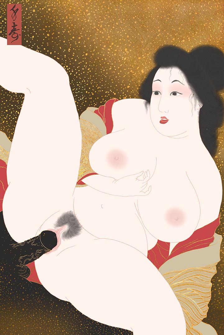 """Maboroshi"" Shunga print"