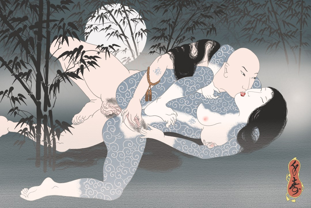 Senju erotic shunga print by Senju