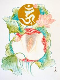 """Shunga Painting """"Aizen Myoo"""""""