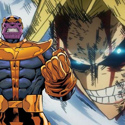 My Hero Academia All Might y Thanos