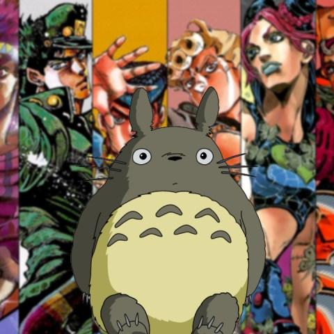 JoJo's Bizarre Adveture Studio Ghibli crossover fanart