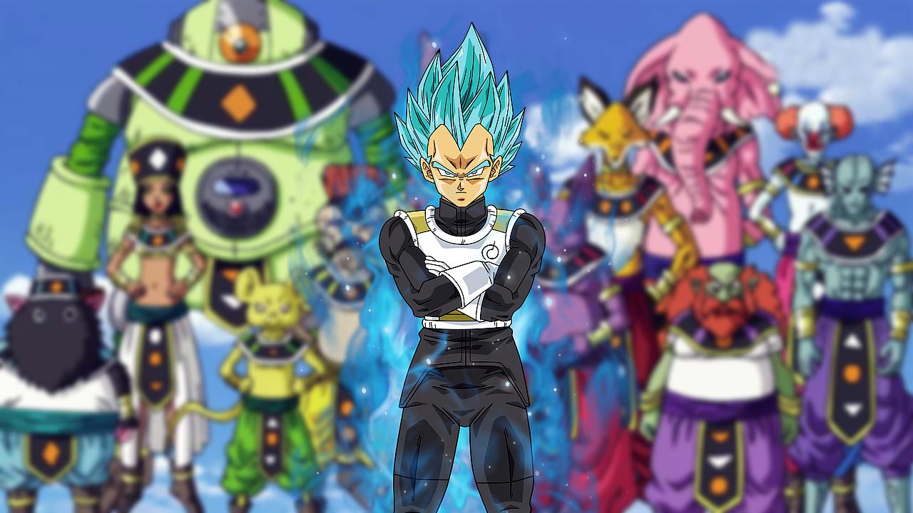 Vegeta Hakaishin Dios de la destrucció manga de Dragon Balln
