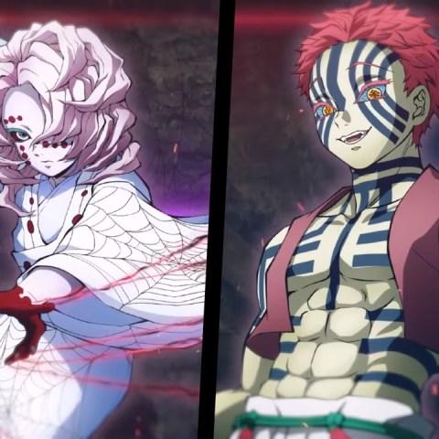 DLC de Akaza y Rui en Kimetsu no Yaiba Hinokami Chronicles
