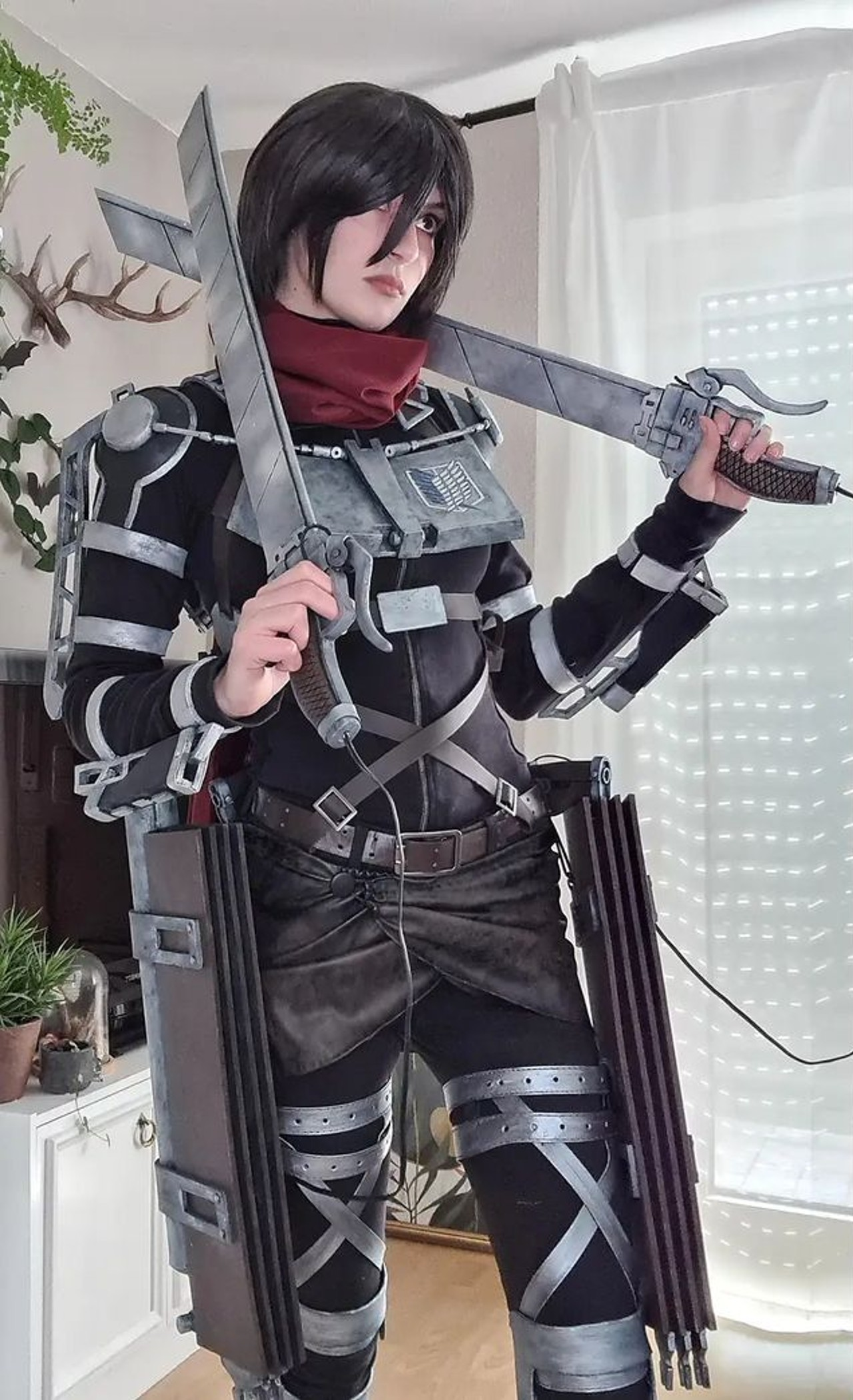 Anime Cosplay Mikasa Ackerman