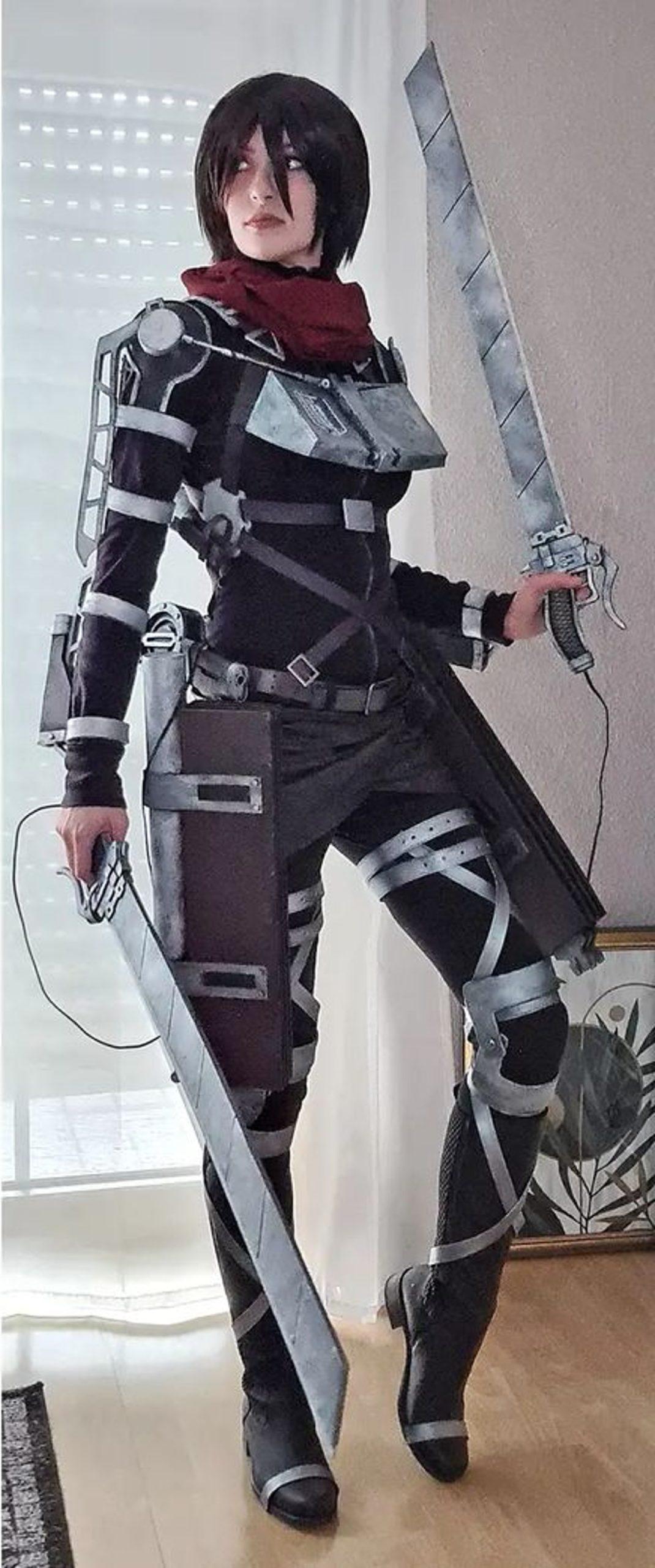 Cosplay Mujer Mikasa Ackerman