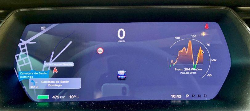 Panel de instrumentos - Tesla Model S 100D y nuestro viaje de 1.000 km