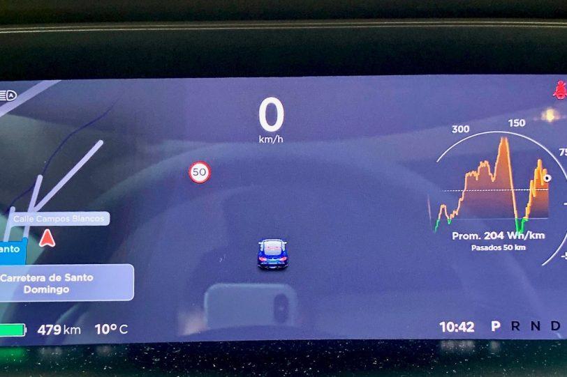 Panel de instrumentos 1140x760 - Tesla Model S 100D y nuestro viaje de 1.000 km