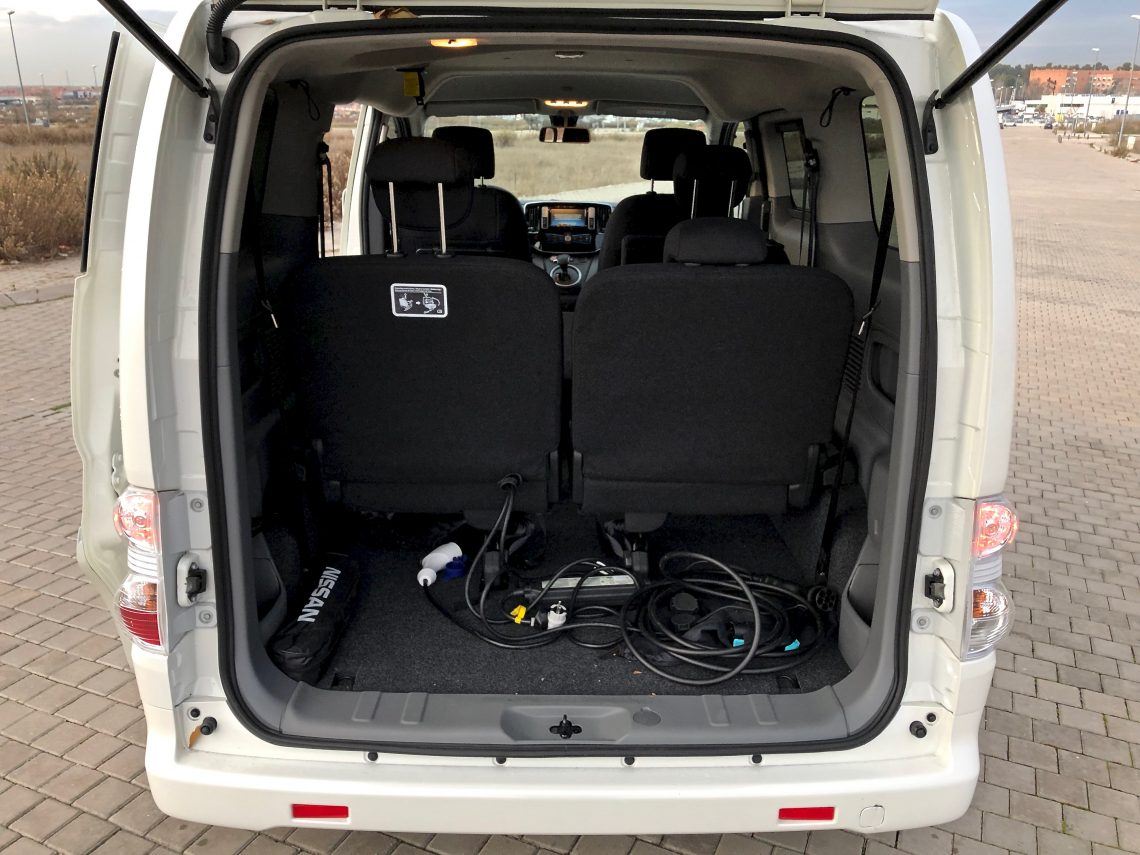 Maletero e nv200 1140x855 - Nissan e-NV200 7 plazas 40 kWh de capacidad