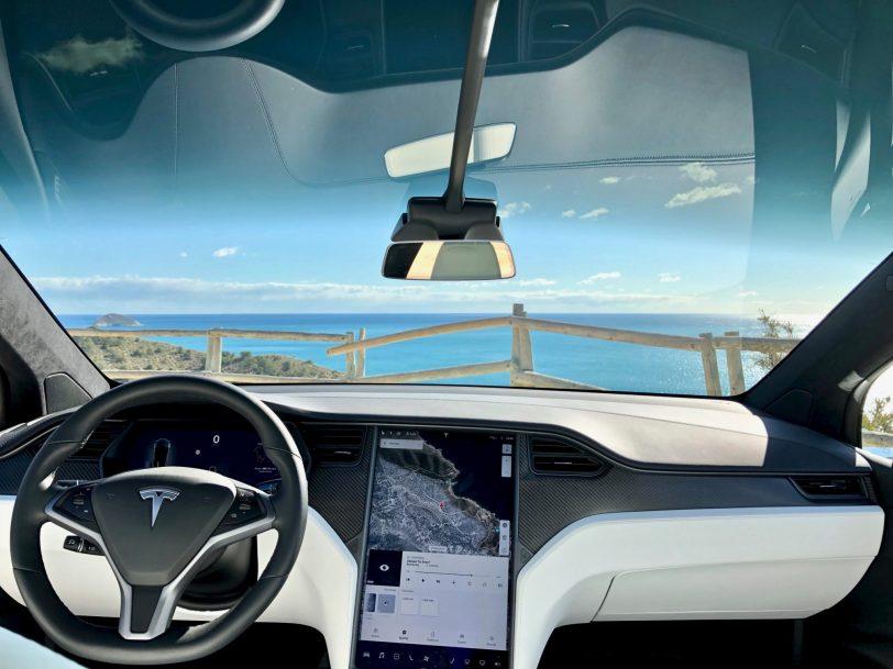 Salpicadero frontal Tesla Model X 100D - Tesla model X 100D: No es cualquier SUV