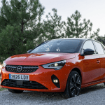 Frontal lateral izquierdo Opel Corsa e - inicio