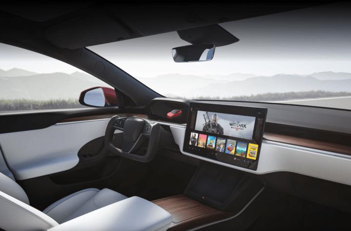Interior nuevo Tesla Model S 2021 - inicio