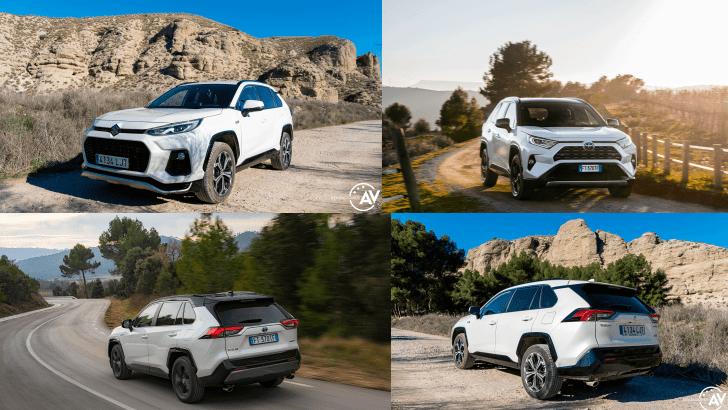 Suzuki Across PHEV vs Suzuki Across PHEV - Comparativa Suzuki Across vs Toyota RAV4 Hybrid 2021