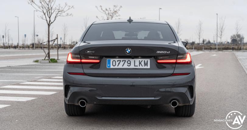 Trasera BMW Serie 3 320d XDrive M Sport Individual - Prueba BMW Serie 3 320d XDrive: Una berlina deportiva y tecnológica