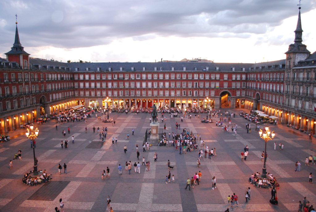 La Plaza Mayor a Madrid