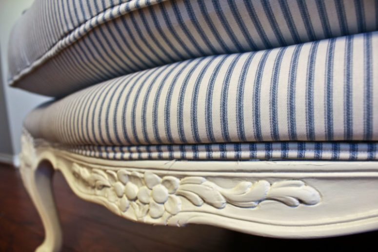 Sense & Serendipity   DIY Bergere Chair Makeover, french chair, chair makeover, DIY, reupholstery