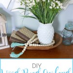 Diy Wood Bead Garland With Tassels Sense Serendipity