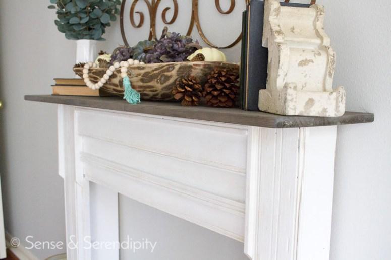 DIY Faux Fireplace Makeover | Sense & Serendipity