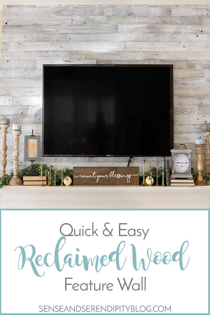 Quick & Easy Reclaimed Wood Feature Wall