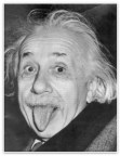 Einstein sticking tounge out