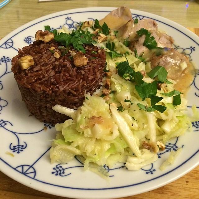 Heute gibt's Schweinefilet mit rotem Reis. Sieht schonmal gut aus... #hellofresh <a rel=