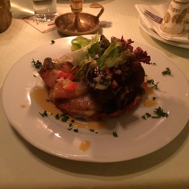Und Abendbrot: Graved Lachs auf Rösti <a rel=