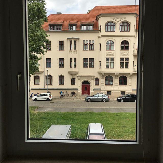 Diese Fenster waren mit Sicherheit noch nie so sauber. Nicht, seit wir hier eingezogen sind zumindest. - via Instagram