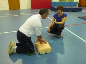 First aid trainer and mannequin