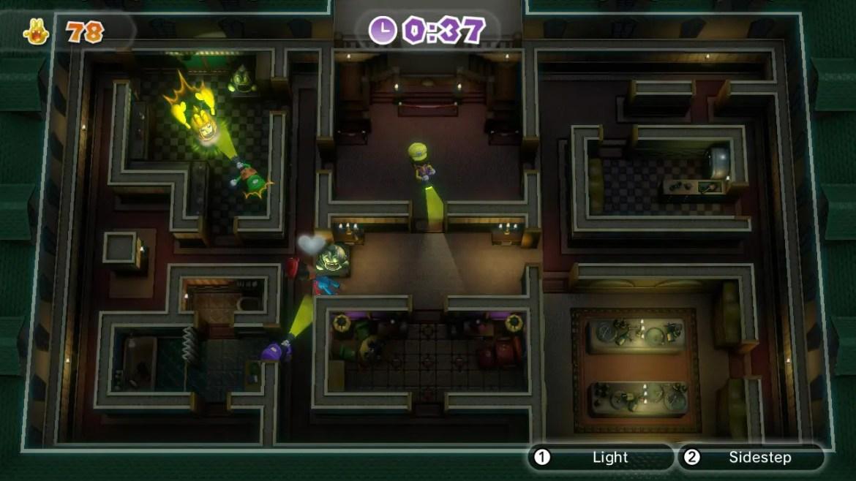 Luigis Mansion är ett av de roligare mini-spelen i Nintendo Land. En spelare är spöket som ska skrämma livet ur de andra spelarna, som ska försöka zappa det med sina ficklampor