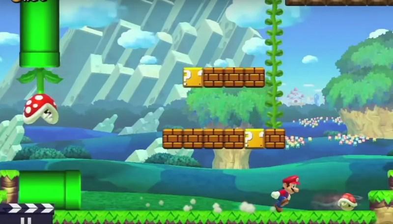 Bönstjälkarna som i gamla goda Super mario Bros tog Mario till bonusbanor bland molnen finns som synes också med i repertoaren.
