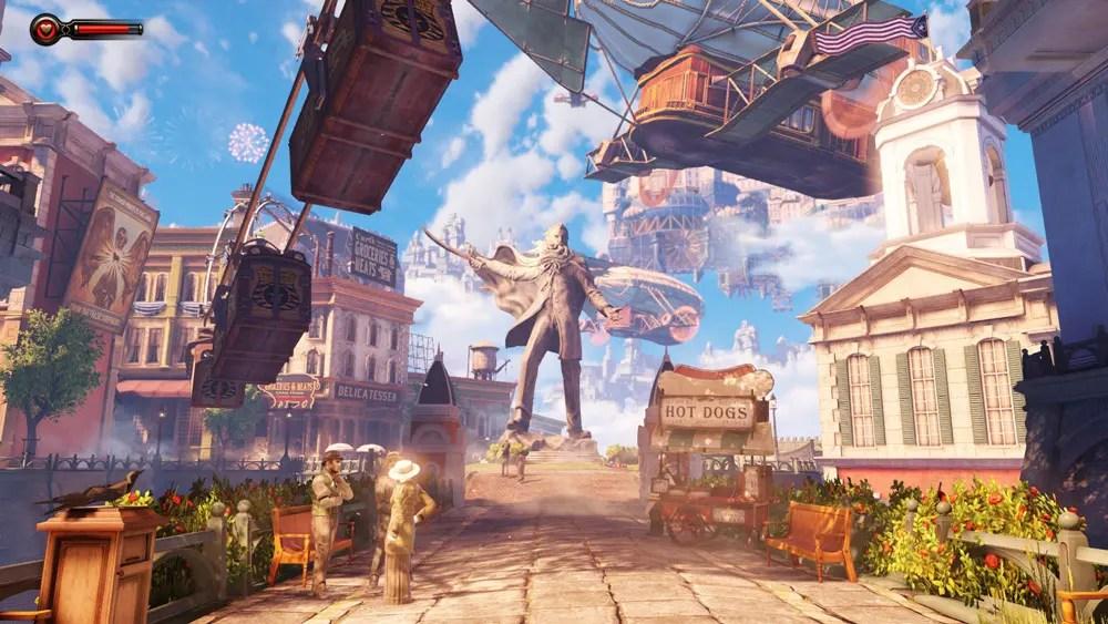 Columbia (Bioshock Infinite) är en vacker och farlig plats.