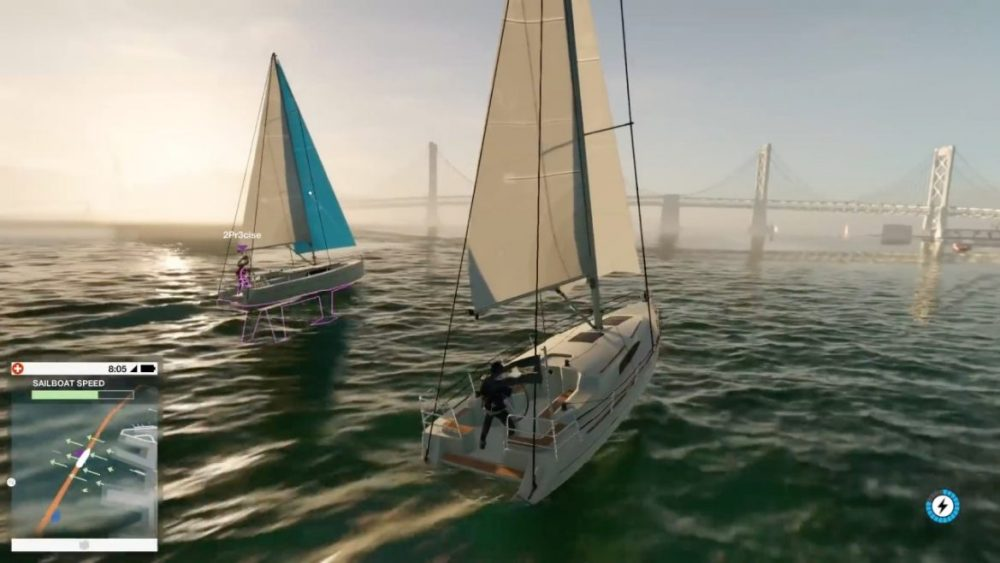Watch Dogs 2 sailing