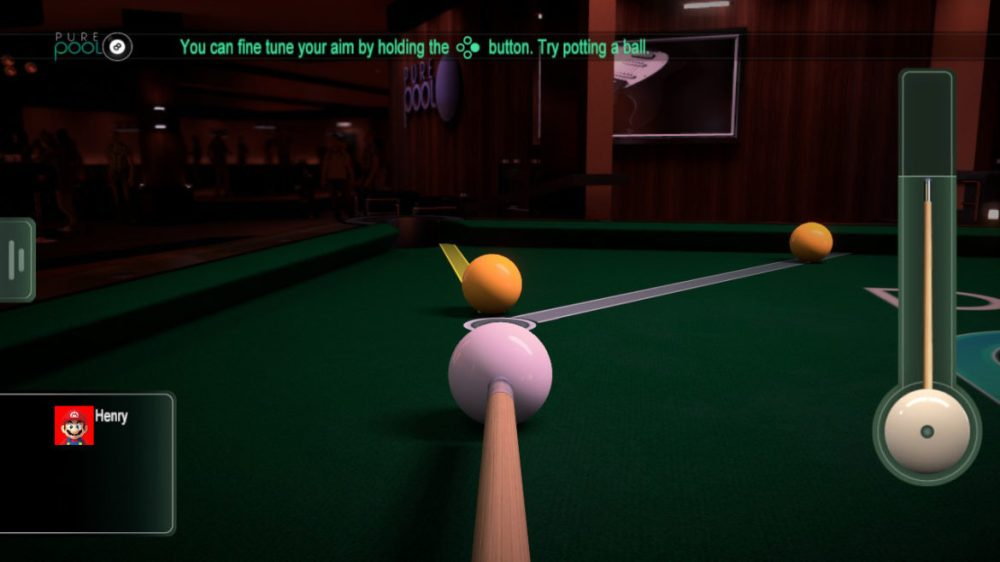 Pure Pool - VooFoo Studios - copyright 2020 - screenshot from Nintendo Switch