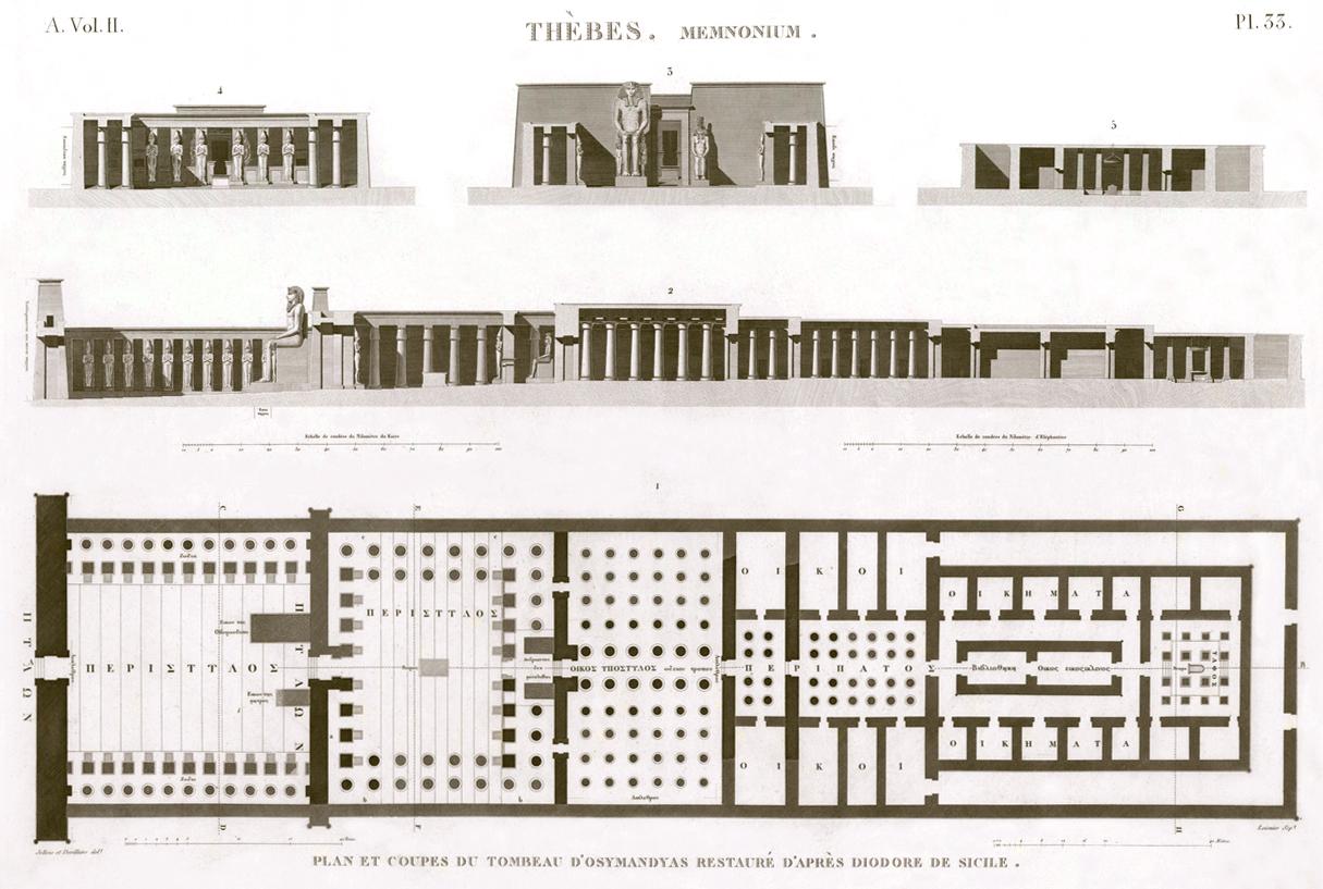 Plan of Ramesseum Temple Egypt
