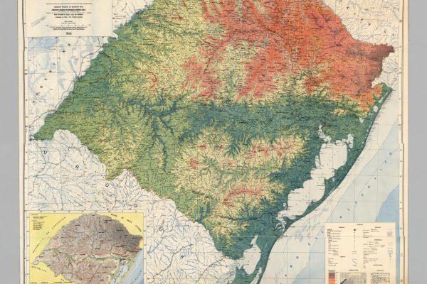 Brasil, Rio Grande do Sul: Wall Map