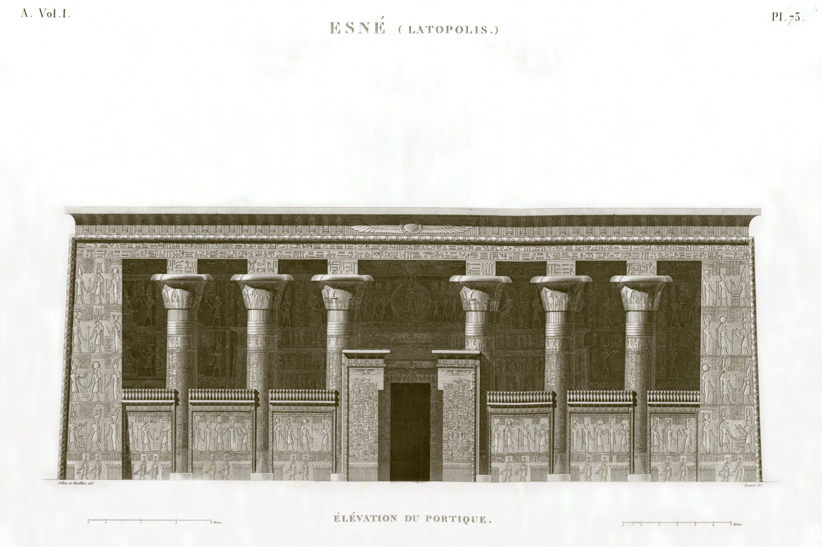 egypt portico elevation esna