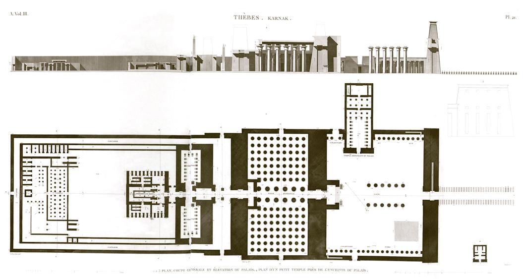 Karnak Amun Temple Plan Egypt